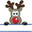 Reindeer Name Plate Applique Design