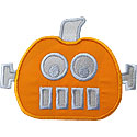 Robot Pumpkin Applique Design