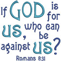 Romans 8 Verse Applique Design