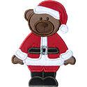 Santa Bear Applique Design