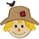 Scarecrow Face Applique Design