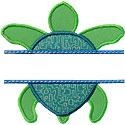 Sea Turtle Name Plate Applique Design