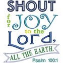 Shout For Joy Applique Design