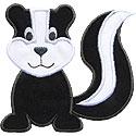 Skunk Applique Design