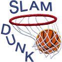 Slam Dunk Basketball Applique Design