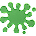Slime Paint Splat Applique Design