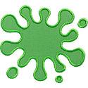 Slime Paint Splat Applique Design