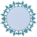 Snowflake Frame Applique Design
