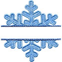 Snowflake Name Plate Applique Design