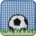 Soccer Frame Applique Design