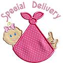 Special Delivery Girl Applique Design