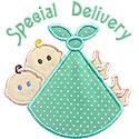 Special Delivery Twins Applique Design
