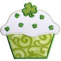 St Patricks Cupcake Applique Design