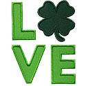 St Patricks Love Applique Design