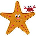 Starfish Crab Applique Design