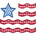 Stars and Stripes Flag Applique Design