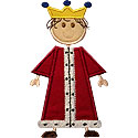 Stick Boy Prince Applique Design