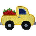 Strawberries Truck Applique Design