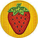 Strawberry Circle Applique Design