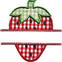 Strawberry Name Plate Applique Design