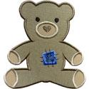 Stuffed Bear Patch Applique Design
