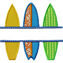 Surfboards Name Plate Applique Design