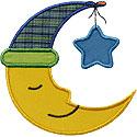 Sweet Dreams Moon Applique Design