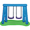 Swing Set Applique Design