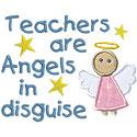Teachers Angels Applique Design