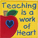 Teaching Work Heart Applique Design