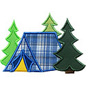 Tent Woods Applique Design