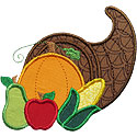 Thanksgiving Cornucopia Applique Design