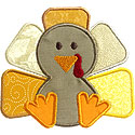 Thanksgiving Turkey Applique Design