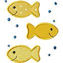 Three Fish Applique Design