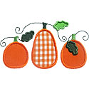 Three Pumpkins Applique Design