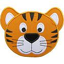 Tiger Cub Head Applique Design