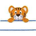 Tiger Name Plate Applique Design