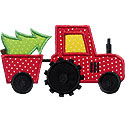Tractor Christmas Tree Applique Design