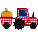Tractor Pumpkin Applique Design