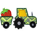 Tractor Strawberry Applique Design