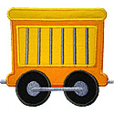 Train Animal Zoo Car Applique Design