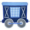 Train Boxcar Applique Design