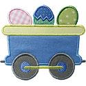 Train Car Easter Egg Applique Design