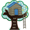 Tree House Applique Design