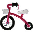 Tricycle Tassels Applique Design