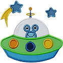 UFO Spaceship Applique Design