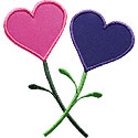 Valentine Flowers Applique Design