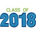 Varsity Class Of 2018 Applique Design
