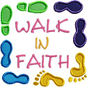Walk In Faith Applique Design