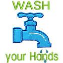 Wash Your Hands Applique Design